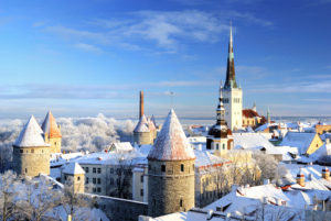 Tallin - winter panorama of the city